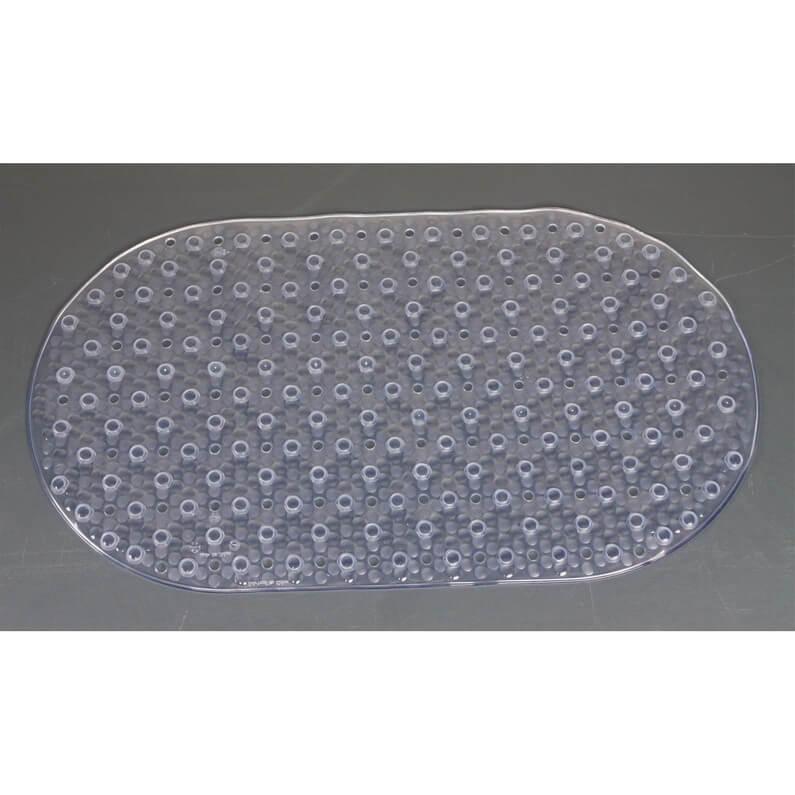 tapis antiderapant a ventouse transparent pour douche et baignoire 69x39cm garantie 1 an
