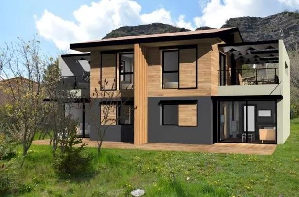 Maison en ossature bois sur Techno Pieux dans les Alpes de Haute Provence