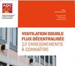 Ventilation double flux décentralisée