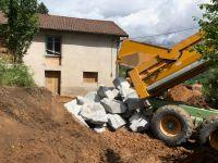 Réalisation de murs en pierre sèche