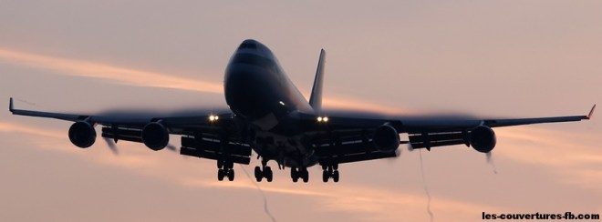 avion 747-photo de couverture journal facebook