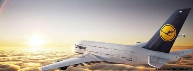 Airbus-A380-Lufthansa-Photo de couverture journal Facebook