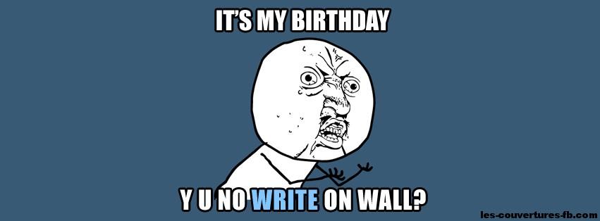 birthday -Photo de couverture journal Facebook