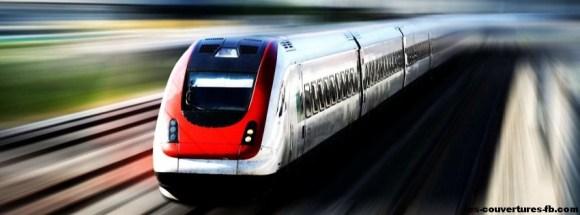 high speed train -Photo de couverture journal Facebook