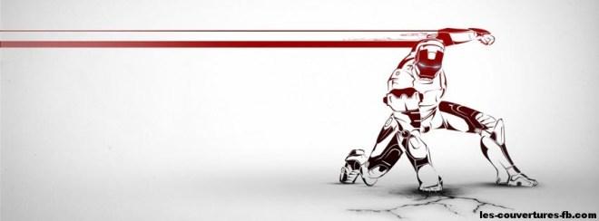 image iron man -Photo de couverture journal Facebook