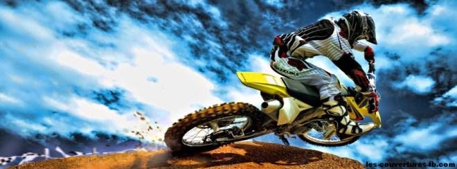 moto cross-Photo de couverture journal Facebook