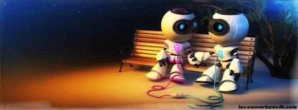 amour de robots - photo de couverture journal facebook