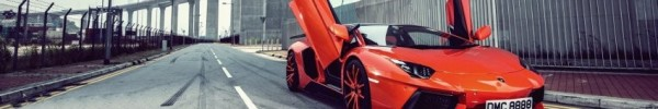 Aventador couleur orange -Photo de couverture journal Facebook