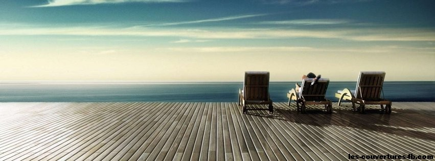 Pause devant la plage -Photo de couverture journal Facebook