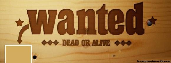 Wanted -Photo de couverture journal Facebook