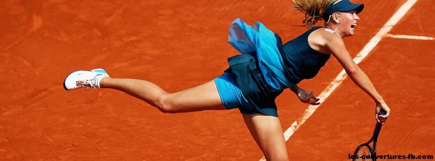Maria Sharapova service Couverture Facebook