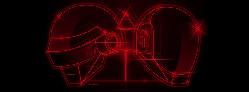 couverture facebook daft punk casque rouge