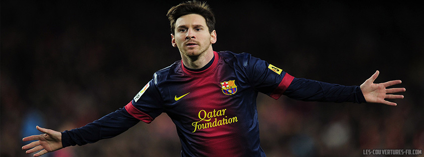 Lionel Messi Barca - Couverture Facebook