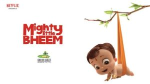 Affiche de la nouvelle série Netiflix Mighty the little Bheem