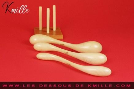 Test d'un ensemble de 3 godes en bois d'érable, de la marque française Idée du Désir.