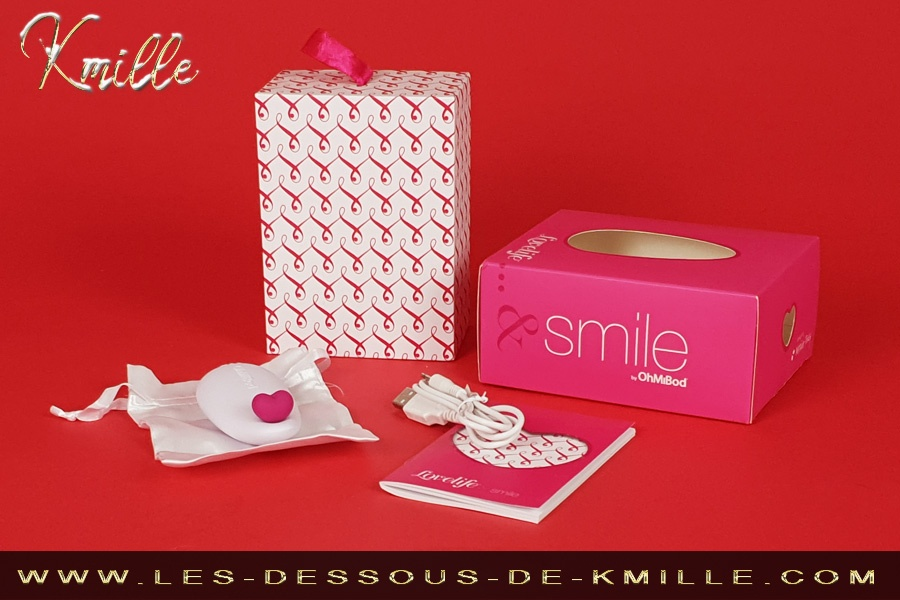 Kmille teste le stimulateur Lovelife Smile, de la marque OhMiBod.