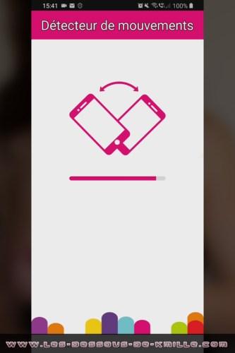 Image d'illustration – Capture d'écran de l'appli Magic Motion