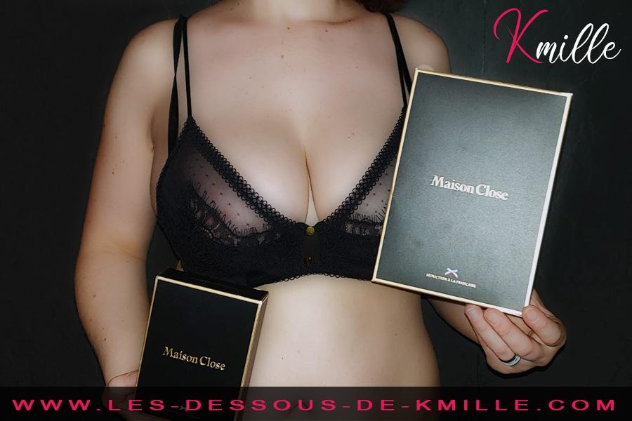 Kmille présente l'ensemble Inspiration Divine de la marque Maison Close.