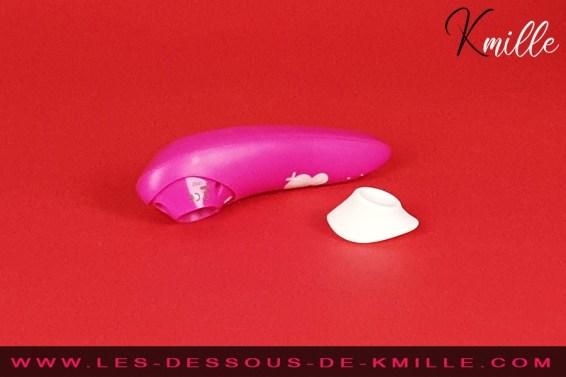 Test d'un stimulateur clitoridien fun et coloré, de la marque ROMP.