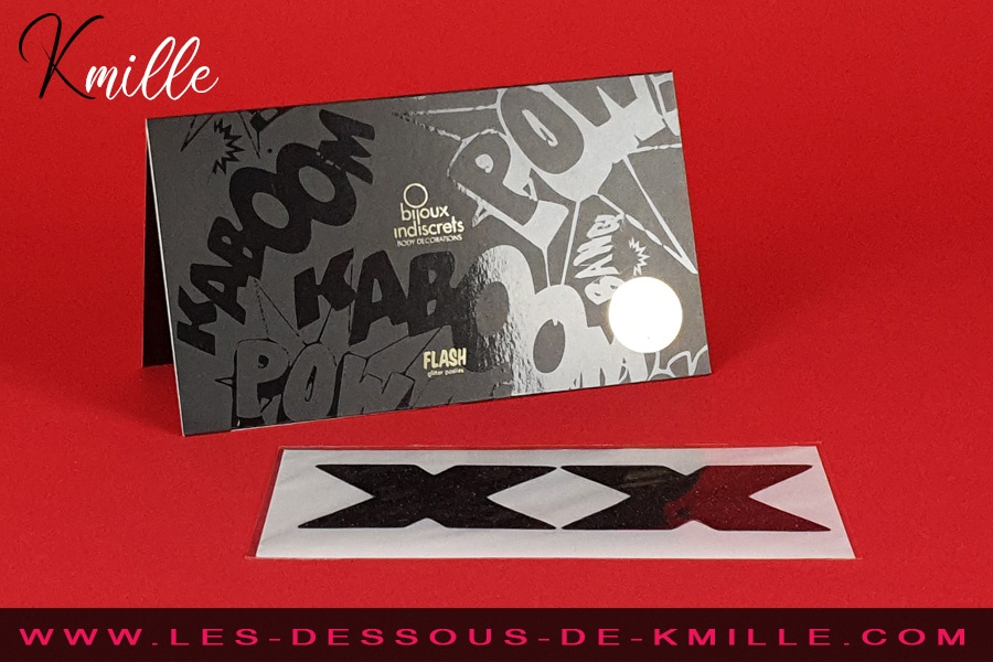 Kmille présente les caches-tétons Flash Glitter Pasties, de Bijoux Indiscrets.