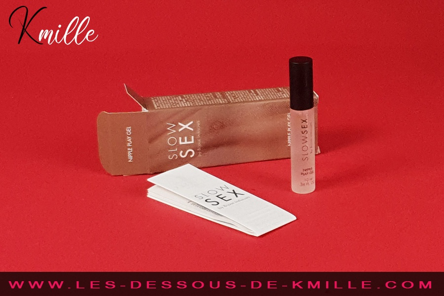 Kmille teste le gel stimulant Slow Sex Nipple Play, de Bijoux Indiscrets.