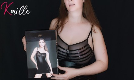 Mon avis sur la robe moulante effet wetlook F078, de Noir Handmade