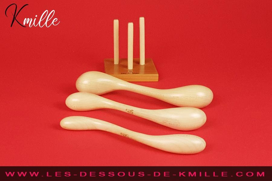Kmille teste le lot de 3 sextoys en bois Sésame du Désir, de Idée du Désir.