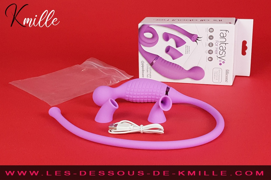 Kmille teste le stimulateur Ultimate Climax-Her Fantasy For Her, de Pipedream.
