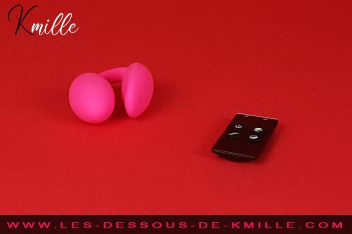 Test d'un stimulateur pour couple avec télécommande, de la marque Love to Love.