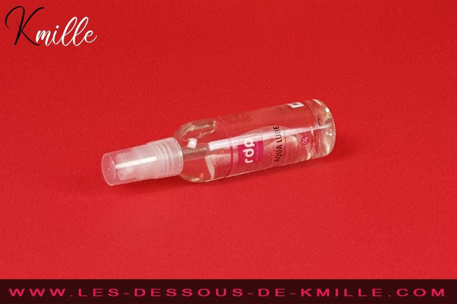 Kmille teste le lubrifiant intime Aqua Lube, de Rue des Plaisirs.