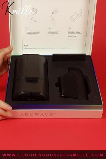 Test d'un stimulateur sans contact pour pénis, de la marque Arcwave.