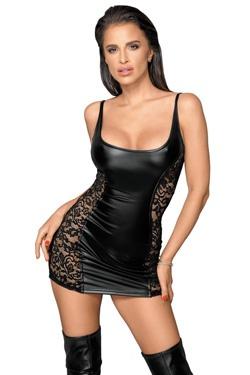 Mes favoris Mode - La robe Wetlook Noir Handmade