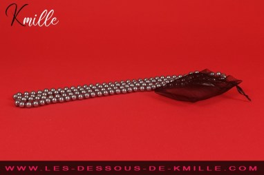 Test d'un collier de perles pour massage ou masturbation, de la marque Be Happy.