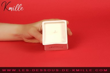 Kmille teste la bougie de massage parfumée, de Be Sensual.