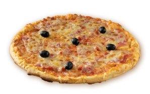 Une pizza à l'européenne, avec une pâte fine et du VRAI jambon à la place de ces peppéroni !