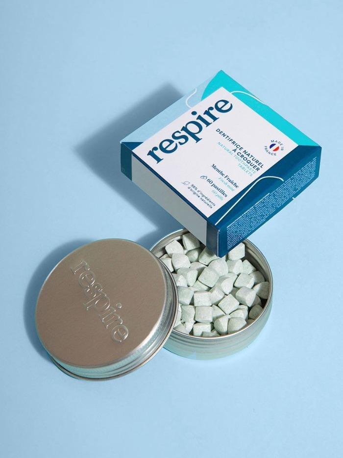 dentifrice solide en pastilles Respire