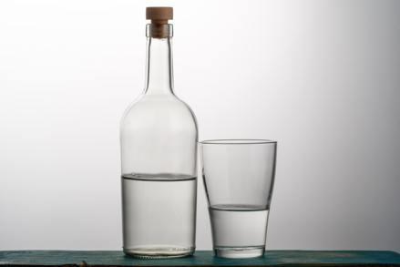 Bouteille en verre eau du robinet