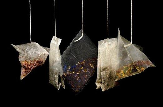 Sachets de thé jetables en plastique