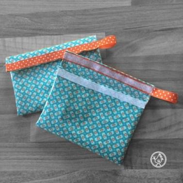 Pochette en tissu lavable pour snack