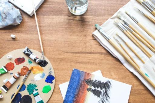 palette peinture dessin libre
