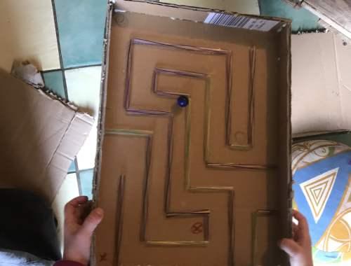 Comment faire un labyrinthe en carton
