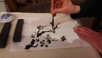 une branche de prunier