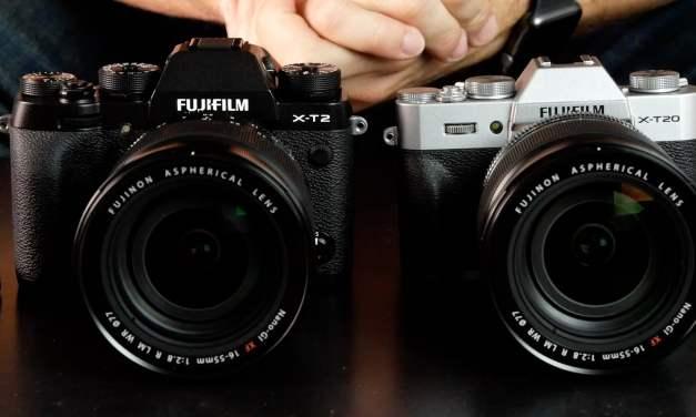 Différences entre Fujifilm X-T2 et X-T20 : le comparatif !