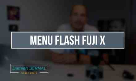 Menu configuration du flash – options