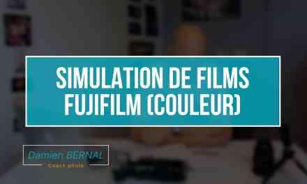 Simulation de films Fujifilm (Provia, Velvia, Astia, Classic Chrome, Pro neg)