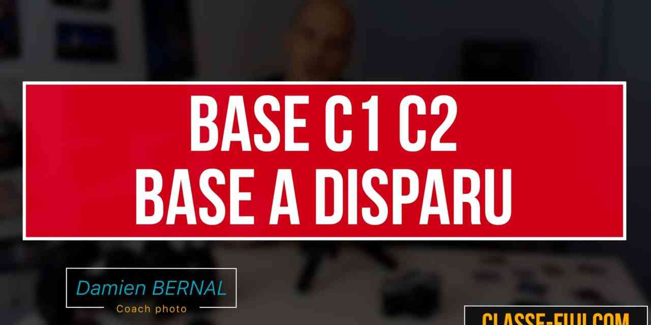 Menu Q – BASE a disparu sur mon Fujifilm ! C1 C2 !