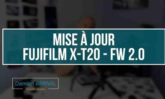 Fujifilm X-T20 : Firmware 2.0 mise à jour !