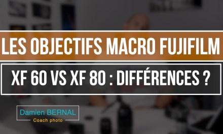 Comparatif XF60 2.4 vs XF80 2.7 : Les objectifs Macro