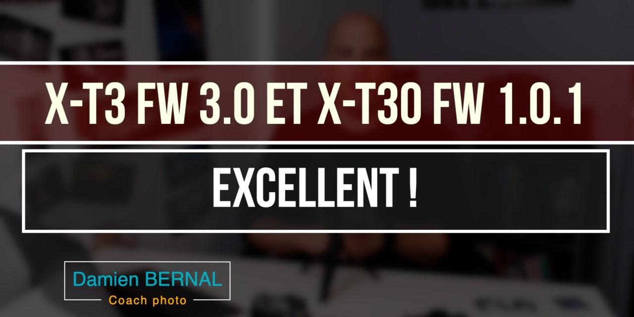 Présentation Mise à jour X-T3 3.0 et X-T30 1.0.1