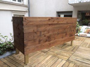 les jardiniers à vélo paris ile de france aménagement entretien terrasse jardin bac bois meleze resistant
